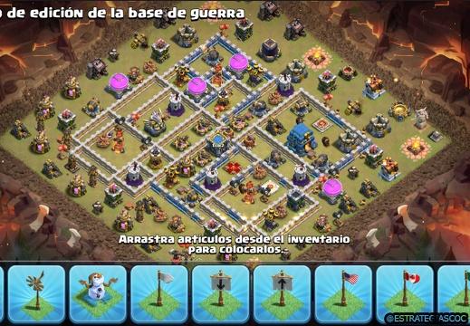 Etiqueta th12 war base | Diseños de Aldeas Clash of Clans