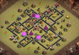 Diseño Guerra Ayuntamiento 8, War Base Layout for TH8