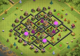 Proteger Elixir Oscuro Ayuntamiento 8, TH8 Farming Base Layout Dark Elixir