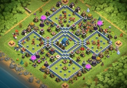Base Layout for Pushing Trophies TH12, Elegante Diseño Subida de Copas Ayuntamiento 12