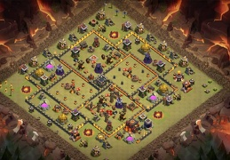 Diseño Guerra Ayuntamiento 10, War Base Layout TH10