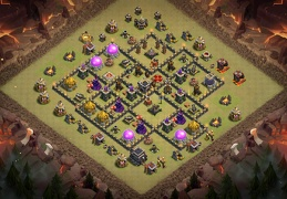 War Base Layout for TH9, Diseño de Guerra Ayuntamiento 9