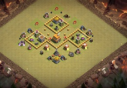 Base de Guerra para Ayuntamiento 5, War Base Layout TH5