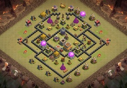 War Base Layout TH8, Diseño de Guerra Ayuntamiento 8 Entrada Troll