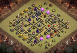 War Base Layout TH9, Diseño de Guerra Ayuntamiento 9