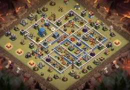 Competitive Player War Base Layout TH12, Diseño Guerra PRO Ayuntamiento 12