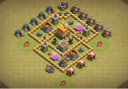 #0668 War Base Layout for TH5, Diseño Guerra Ayuntamiento 5