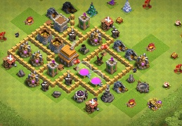 Farming TH5 Base Layout, Diseño Ayuntamiento 5