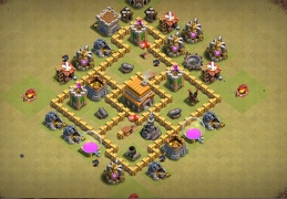 #0671 War Base Layout for TH5, Diseño Ayuntamiento 5 de Guerra