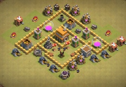 #0672 Hybrid Base Layout for TH5, Diseño Híbrido Ayuntamiento 5