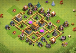 #0673 TH5 Farming Base Layout, Ayuntamiento 5 Diseño Proteger Recursos