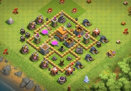 #0675 Farming Base Layout for TH5, Proteger Oro y Elixir Ayuntamiento 5