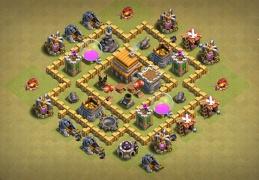 War Base Layout TH5, Buen Diseño de Guerra Ayuntamiento 5