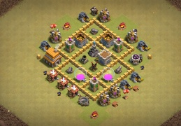 Farming and War Base Layout TH5, Diseño Guerra y Farming Ayuntamiento 5