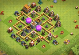 Farming Base Layout TH5, Diseño Aldea Ayuntamiento 5