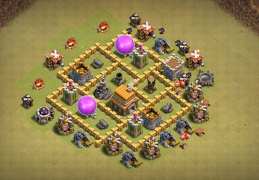 War Base Layout TH5, Diseño Guerra Ayuntamiento 5