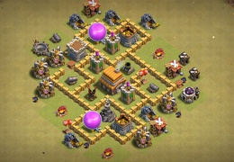 War Base Layout for TH5, Diseño de Guerra Ayuntamiento 5