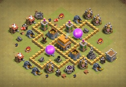 #0683 Hybrid Base Layout TH5, Farming y Subida de Copas Ayuntamiento 5