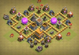 Hybrid Base Layout for TH12, Diseño Guerra y Subida Copas Ayuntamiento 5