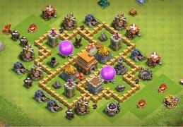 #0687 Farming Base Layout TH5, Diseño Proteger Oro y Elixir Ayuntamiento 5