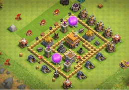 #0691 Pushing Trophies Base Layout TH5, Diseño Subida de Copas