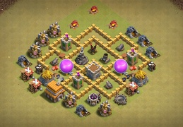 TH5 War Base Layout, Diseño Guerra Ayuntamiento 5