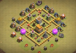 Great War Base Layout for TH5, Buen Diseño de Guerra Ayuntamiento 5