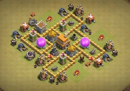 Nice Hybrid Base Layout for TH5, Híbrido Subida de Copas y Guerra Ayuntamiento 5