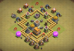 Great War Base Layout for TH5, Buen Diseño Guerra Ayuntamiento 5