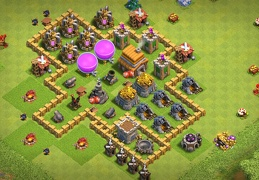 Simple Farming Base Layout TH5, Diseño Sencillo Farming Ayuntamiento 5