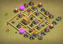 #0699 War Base Layout TH5, Diseño Guerra Ayuntamiento 5
