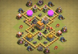 #0700 War Base Layout TH5, Guerra Diseño Ayuntamiento 5