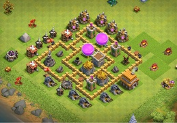 Base Layout for Town Hall 5 Protect Resources, Proteger Recursos Ayuntamiento 5