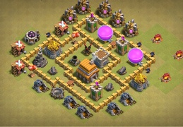 War Base Layout TH5, Ayuntamiento 5 Guerra Diseño