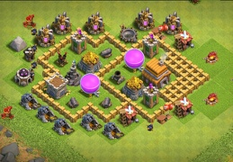 Hybrid Base Layout TH5, Subida de Copas, Farming Ayuntamiento 5