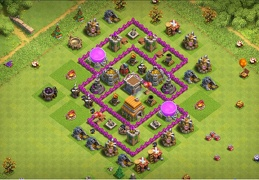 #0708 Vertical Hybrid Base Layout for TH6, Subida de Copas y Guerra Ayuntamiento 6