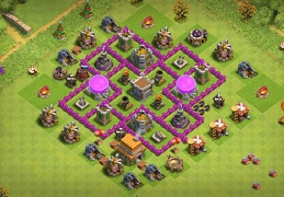 #0710 Farming Base Layout for TH6, Proteger Recursos Ayuntamiento 6