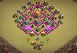 #0711 TH6 Hybrid Base Layout, Subida de Copas y Guerra Ayuntamiento 6