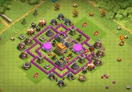 Pushing Trophies and Farming Base Layout TH6, Subida de Copas Ayuntamiento 6