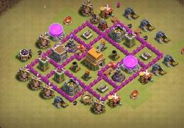 War and Pushing Trophies Base TH6, Subida de Copas y Guerra