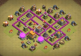 Good War Base Layout TH6, Diseño Guerrra Ayuntamiento 6