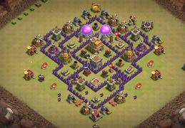 War Base Layout for TH7, Diseño Guerra Ayuntamiento 7