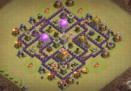 War Base Layout TH7, Diseño de Guerra Ayuntamiento 7