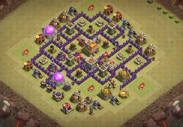 #0742 War Base Layout for TH7, Diseño Guerra Ayuntamiento 7