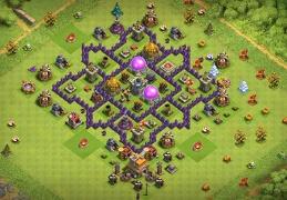 TH7 Farming Troll Town Hall Protect Dark Elixir, Proteger Elixir Oscuro Ayuntamiento 7
