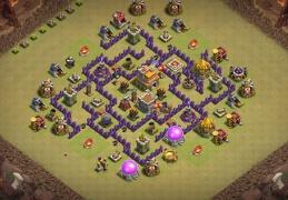 War Base Layout for TH7, Diseño de Guerra para Ayuntamiento 7