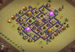 TH7 War Base Layout Diseño Guerra Ayuntamiento 7
