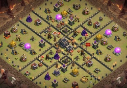 Extended War Base Layout TH9, Diseño Extendido Guerra Ayutamiento 9