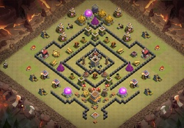 TH8 War Base Layout, Diseño de Guerra Ayuntamiento 8