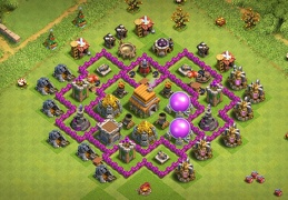 #0760 Farming Base Layout for TH6, Diseño Proteger Recursos Ayuntamiento 6
